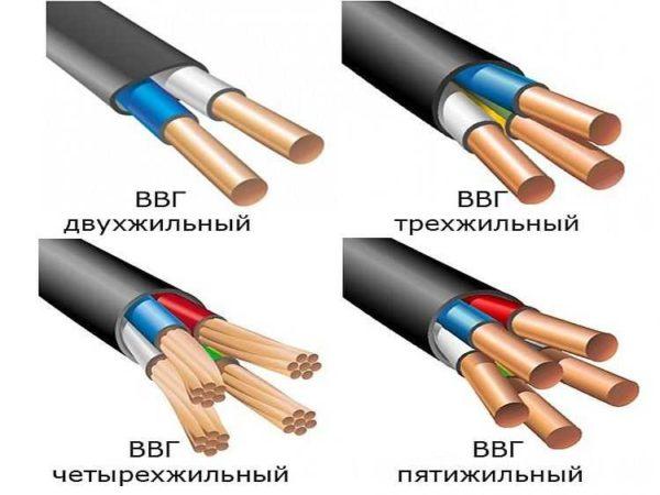 Технические характеристики силового кабеля ВВГ,кабель Ввгнг и кабель Ввгнг ls