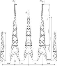 Опора анкерно-угловая транспозиционная свободностоящая У1150-1+12Т