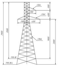 Опора промежуточная П110-3В, П110-3В+4