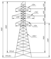 Опора промежуточная П110-6В, П110-6В+4